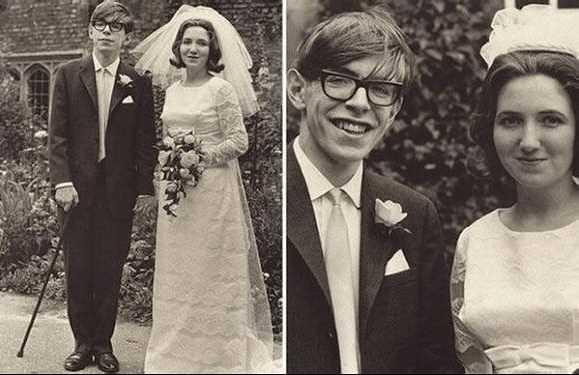 ホーキング博士とジェーンの実際の結婚式の写真